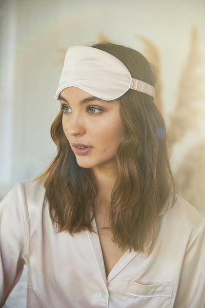 Satin Eye Mask - Blush - Homebodii US