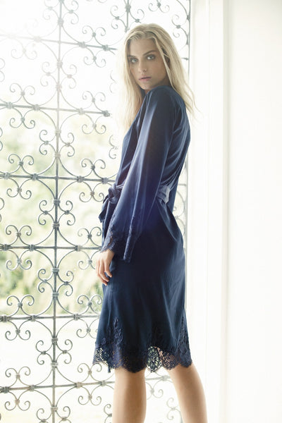 Olivia Robe - Navy - Homebodii US