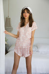 Polka Dot Short Piping PJ Set - Homebodii US