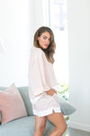 Splice Short PJ Set - Blush