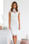 Suzette Lace Dress Ivory - Homebodii US