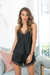 Donatella Cami Set - Black