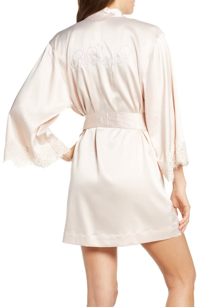 Juliette Bridesmaid Embroidered Robe - Blush - Homebodii US