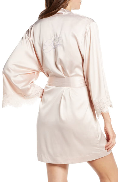 Juliette Bride Embroidered Robe - Blush - Homebodii US