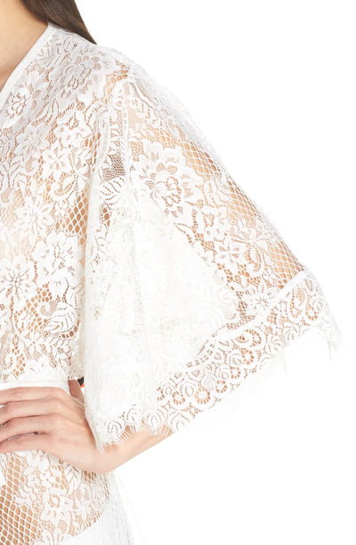 Leah Long Lace Robe - Homebodii US