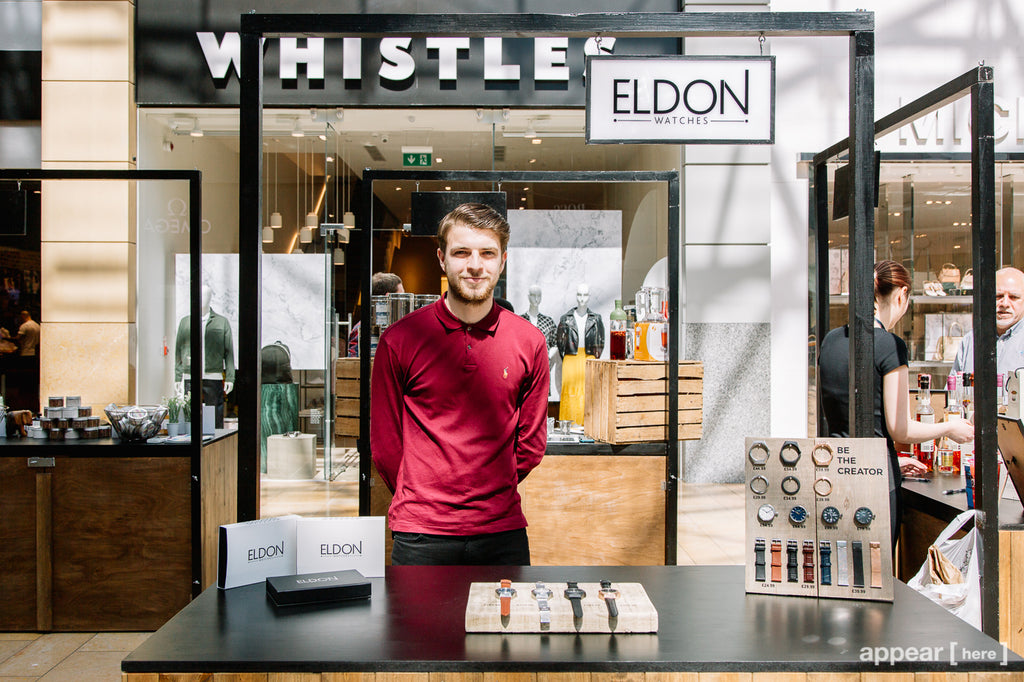 Founder of Eldon Watches, Elliott Haydon