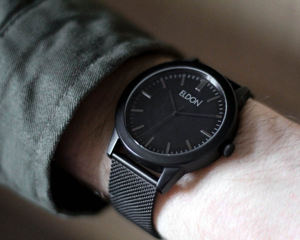 The All Black Watch on Wrist