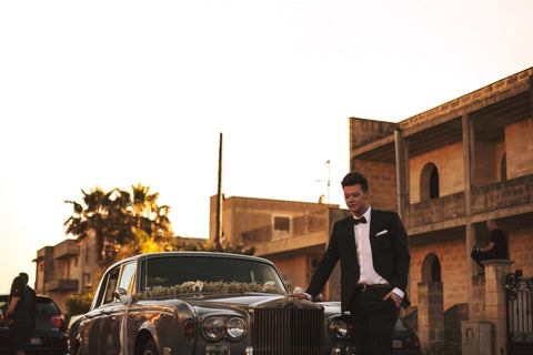 Formal Car And Man In Tuxedo