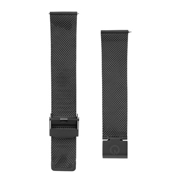 Matte Black Milanese Interchangeable Watch Strap