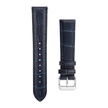Navy Blue Alligator Leather Interchangeable Watch Strap