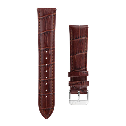 Brown Alligator Leather Interchangeable Watch Strap