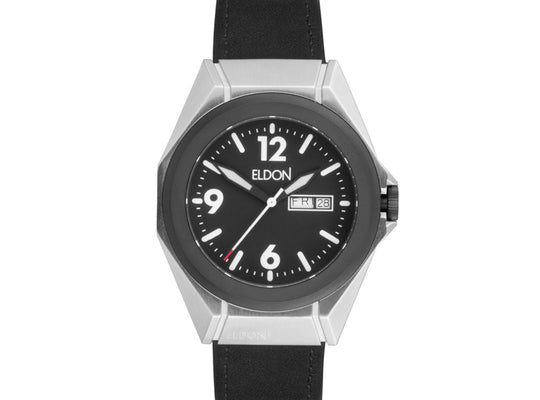 The Adventurer Original Modular Watch with Black Leather Strap