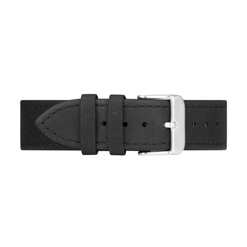 Black Leather Interchangeable Watch Strap