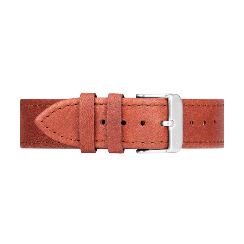 Brown Leather Interchangeable Watch Strap