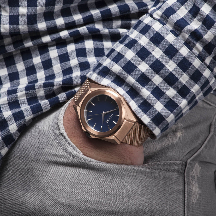The Rose Gold Original Modular Watch On Wrist