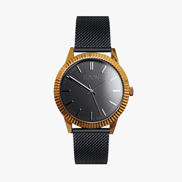 The Black & Gold Slimline Watch