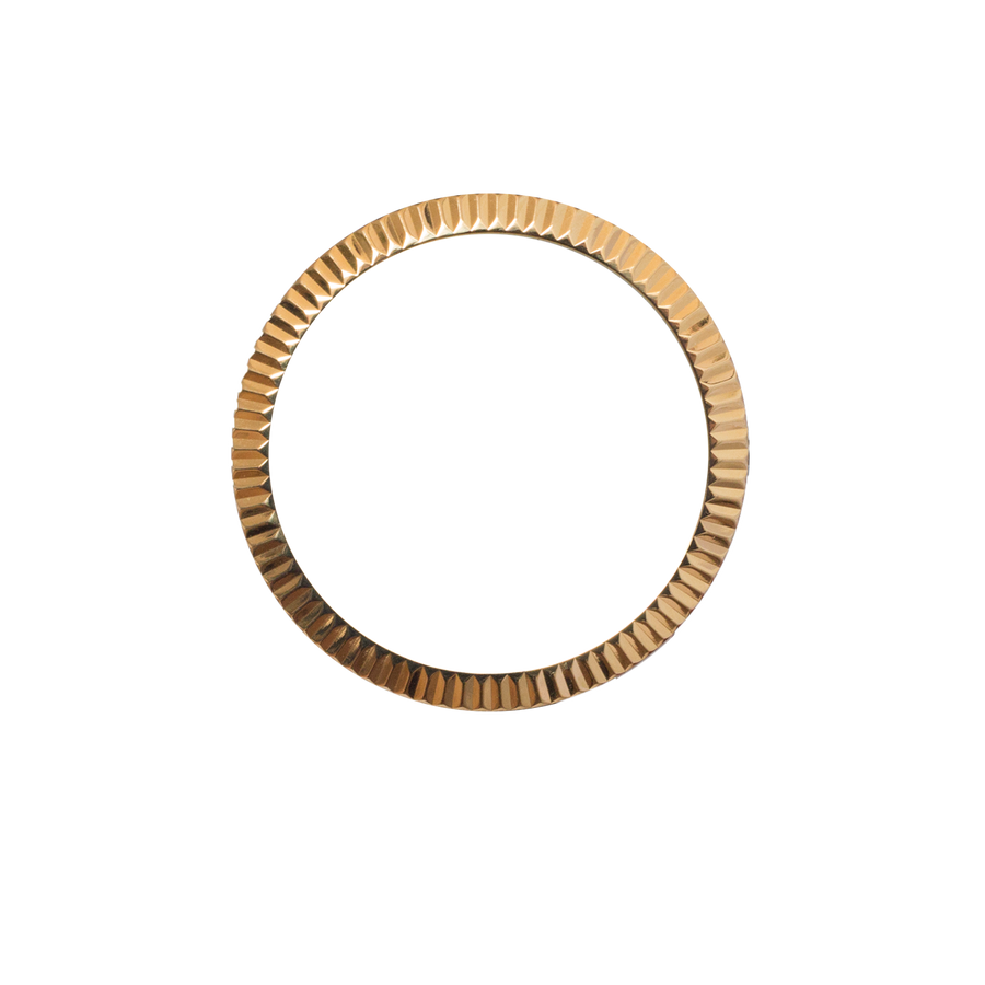 Gold Ridged Bezel