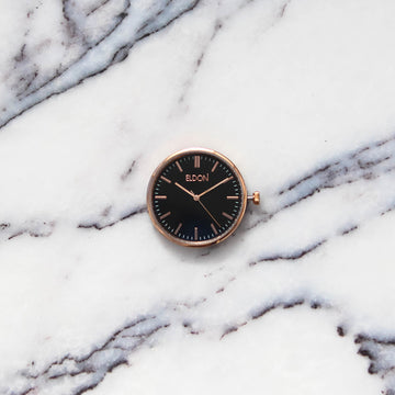 The Rose Black Slimline Modular Watch Face