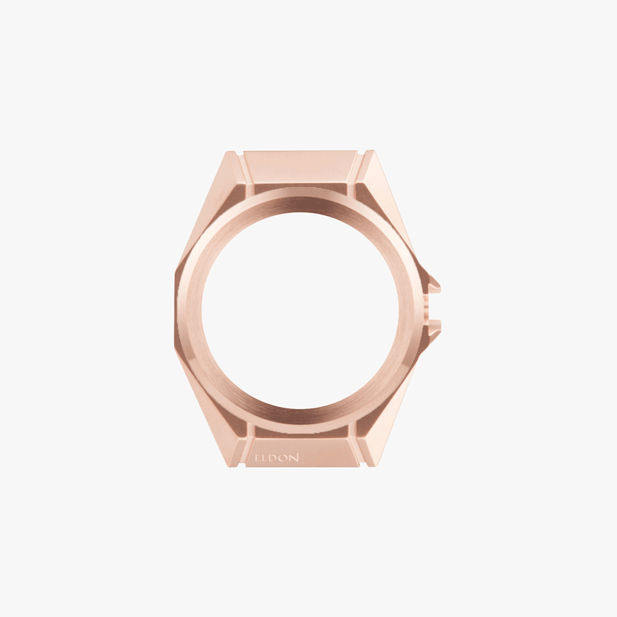Brushed Rose Gold Case & Bezel