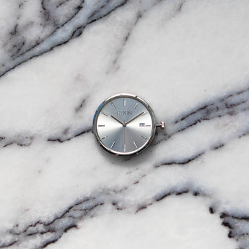 The Silver Ray Slimline Modular Watch Face