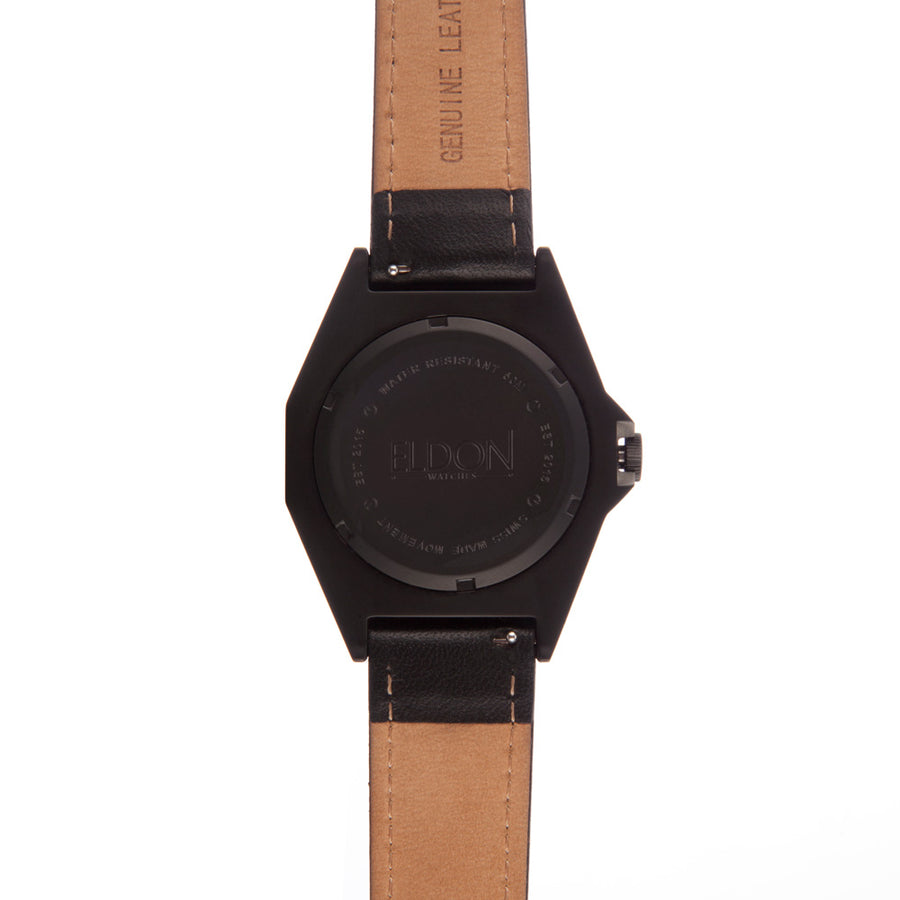 Stealth Black Original Watch with Black Leather Strap
