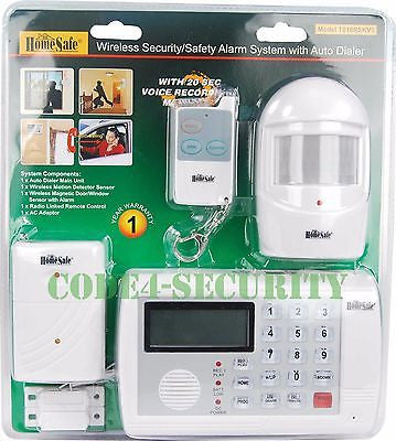 HomeSafe Wireless home security alarm monitoring system motion sensor remote