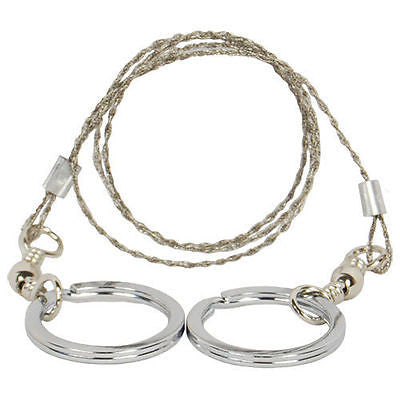Commando stainless light weight steel multistrand wire saw for Bug-out bags