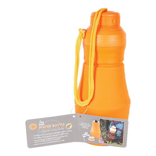 FlexWare collapsible Water Bottle heat-resistant, food grade BPA-free silicone