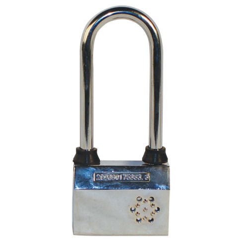 Large 100db Alarmed Padlock for bike fence gate storage unit home protection NEW