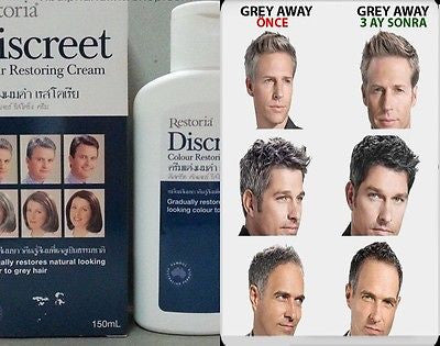 Restoria Discreet Colour Restoring Cream Anti Grey Hair Treatment 150ml Younger looking