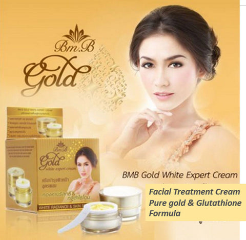 Gold Glutathione Smooth Bright Snail Natural Extract White Face Cream - Asia Skin