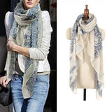 High quality Blue and White Porcelain Style Thin Section Women Scarf Shawl - Asia Skin