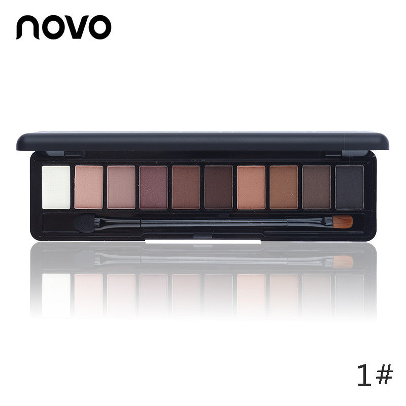 Shimmer Matte Natural Fashion Eye shadow Cosmetics Set With Brush - Asia Skin