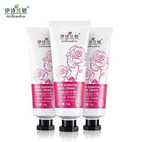 3 PCS Rose Essence Oil Moisturizing Hand Cream - Asia Skin