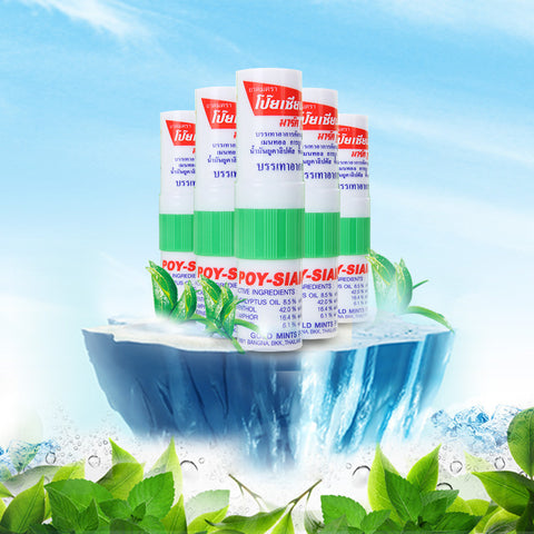Refreshing Mint Anti Fatigue Nasal Inhaler 5 Pieces - Asia Skin