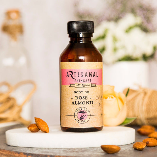 Rose Almond Body Oil for All Skin Types