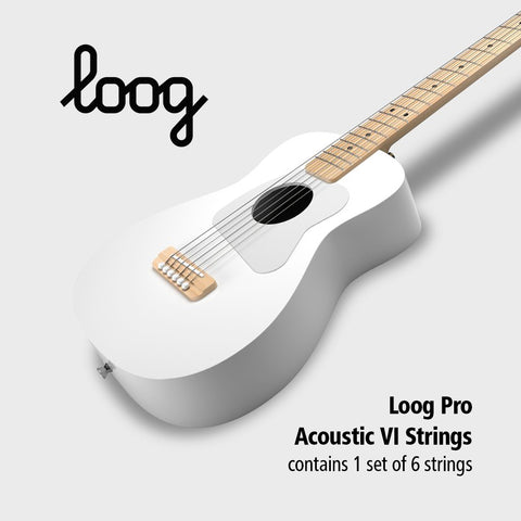 Loog Pro Acoustic Guitar VI Strings
