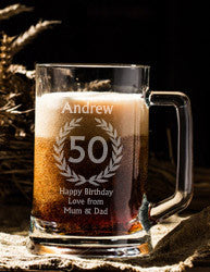 Personalised Beer Steins for Birthday Gifts