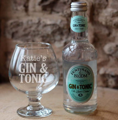 Fentimans Gin & Tonic with Personalised Glass