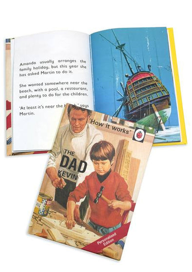 Personalised Ladybird book for Fathers Day.