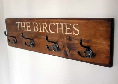 Personalised Vintage Coats Racks