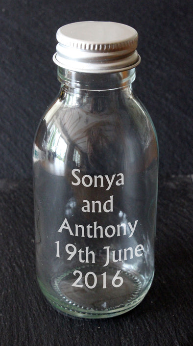 100ml Personalised Sirop Bottles Wedding Favours - PersonalisedGoodies.co.uk