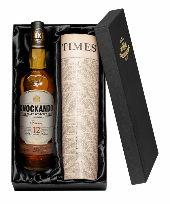 12 Year Old Knockando Whisky & Original Newspaper