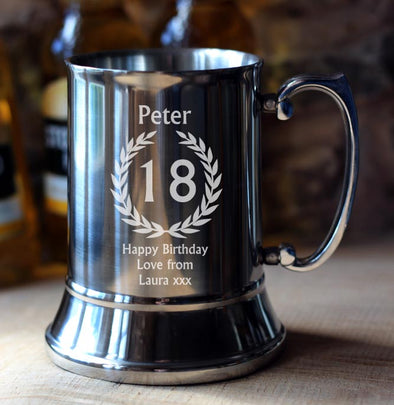 18th Birthday Personalised Tankard