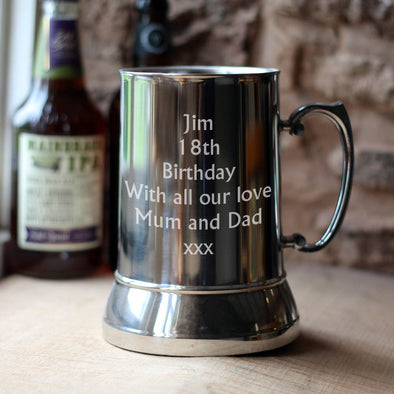 Large Personalised 1000ml Tankard