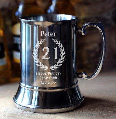 21st Birthday Personalised Tankard