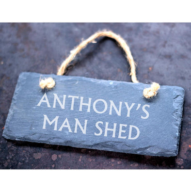 Personalised Man Shed Slate Sign