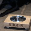Personalised Oak Dog Bowl