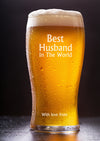 Personalised Best Husband Pint Glass - PersonalisedGoodies.co.uk