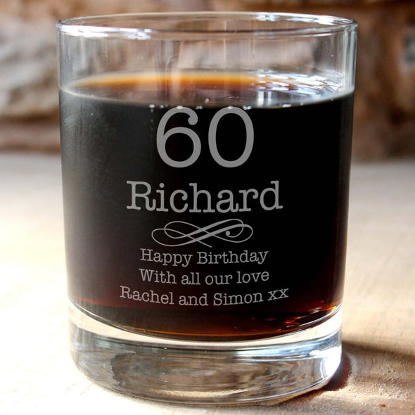 Personalised Birthday Whisky Tumbler